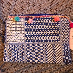 Blue and White side purse